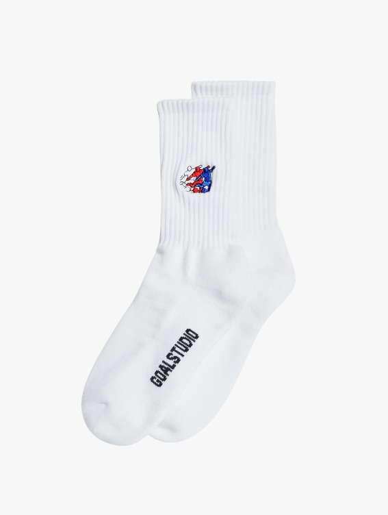 FREE KICK CAPSULE SOCKS - WHITE