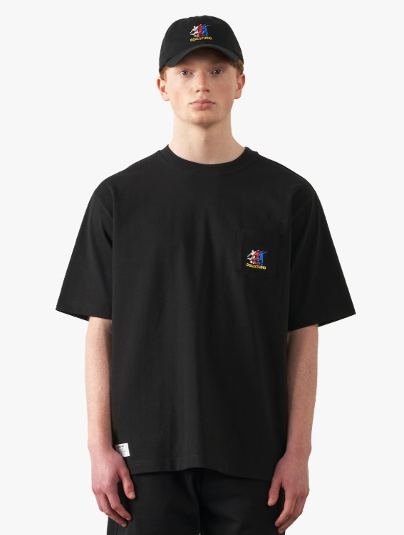 FREE KICK CAPSULE POCKET TEE - BLACK