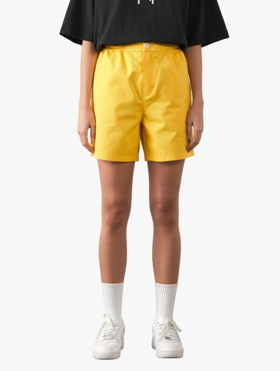 FREE KICK CAPSULE COTTON CHINO SHORTS - YELLOW