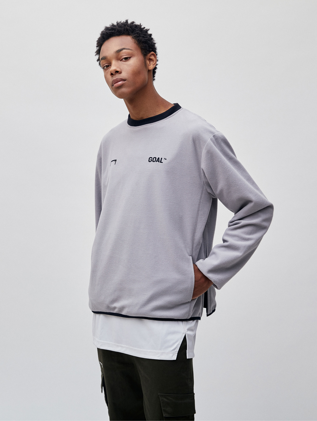 REVERSIBLE PULLOVER - GRAY/BLACK