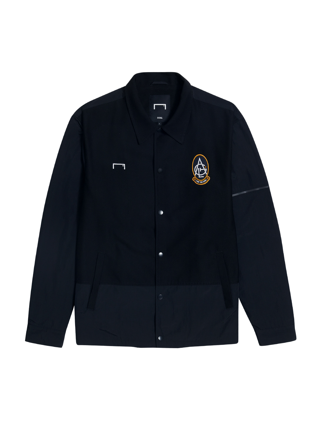 EMBLEM COACH JACKET - BLACK