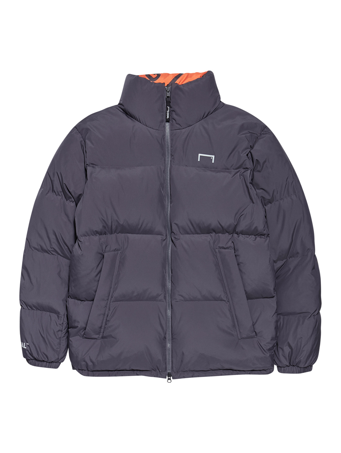 REVERSIBLE DOWN PARKA - GRAY/ORANGE [SPECIAL GIFT]