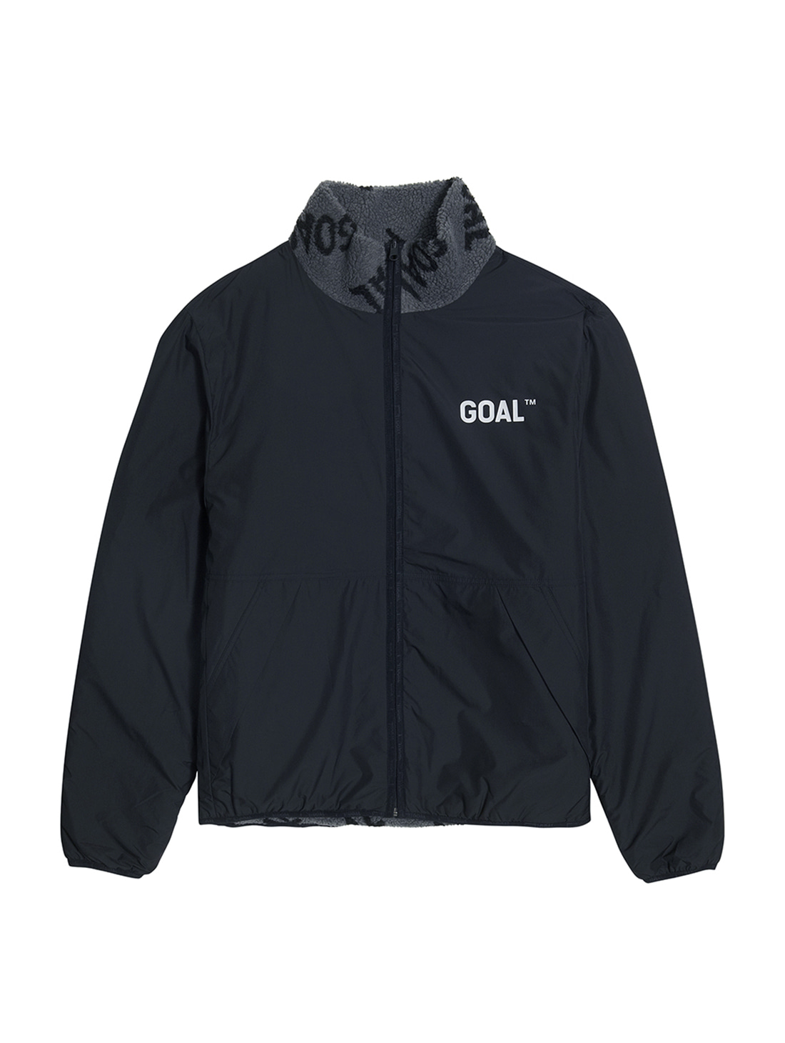 REVERSIBLE FLEECE JACKET - GRAY/BLACK - 1차 완판(2차 입고 완료)