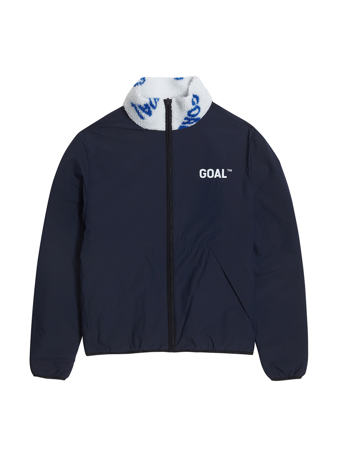 (Sold Out) REVERSIBLE FLEECE JACKET - WHITE/NAVY - 1차 완판(2차 입고 완료)
