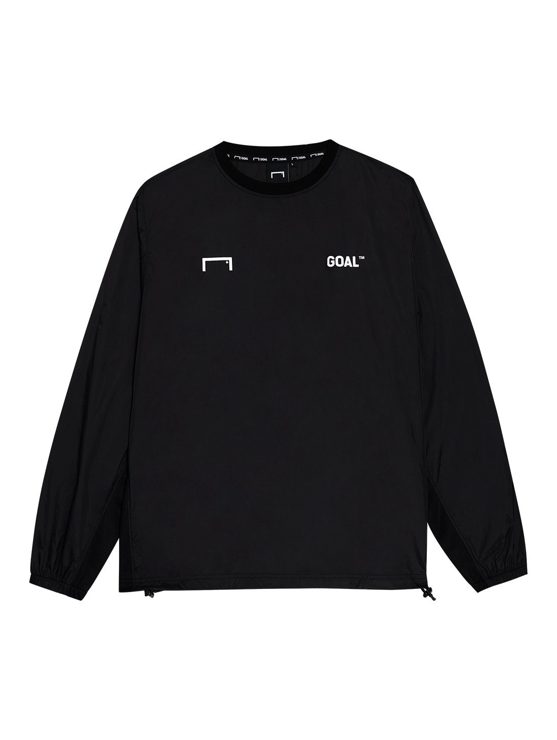 LOGO WIND PULLOVER - DEEP BLACK
