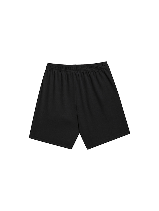 (KIDS) PLAYER EMBLEM SHORTS - BLACK