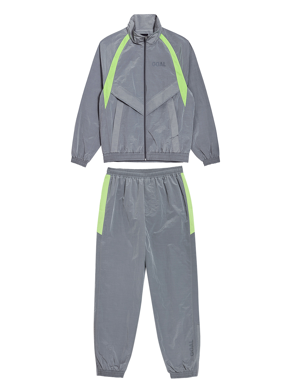 [10% OFF] WARMUP JACKET & PANTS SET - GREY