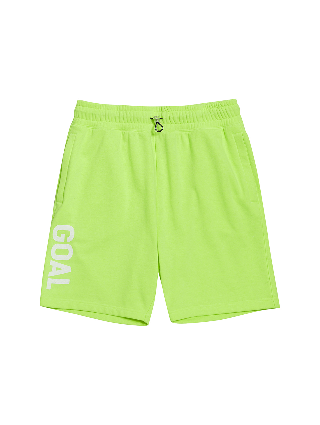 FLOCKING HALF PANTS - LIME YELLOW
