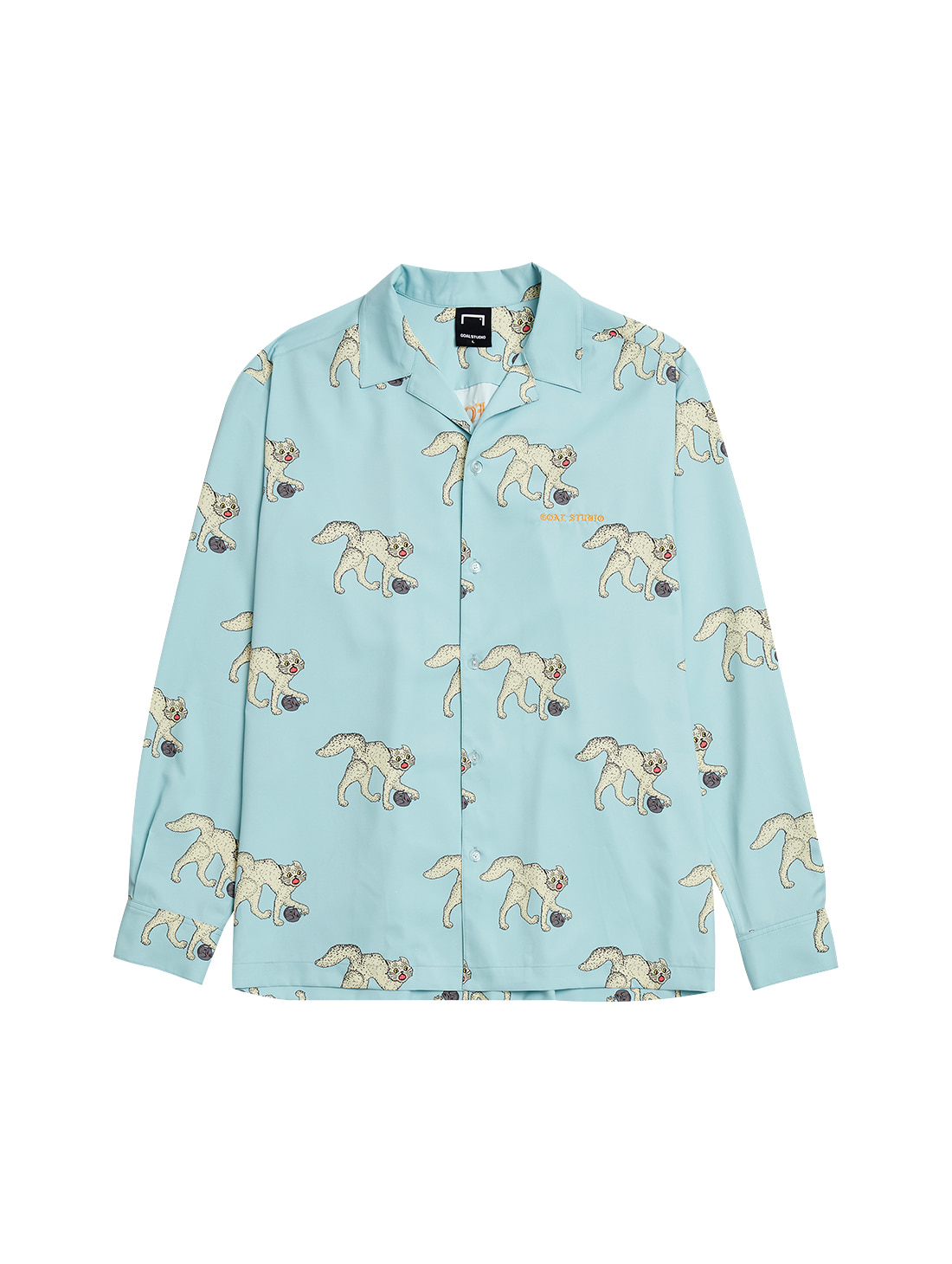 MC ALL OVER PATTERN SHIRTS - LIGHT BLUE
