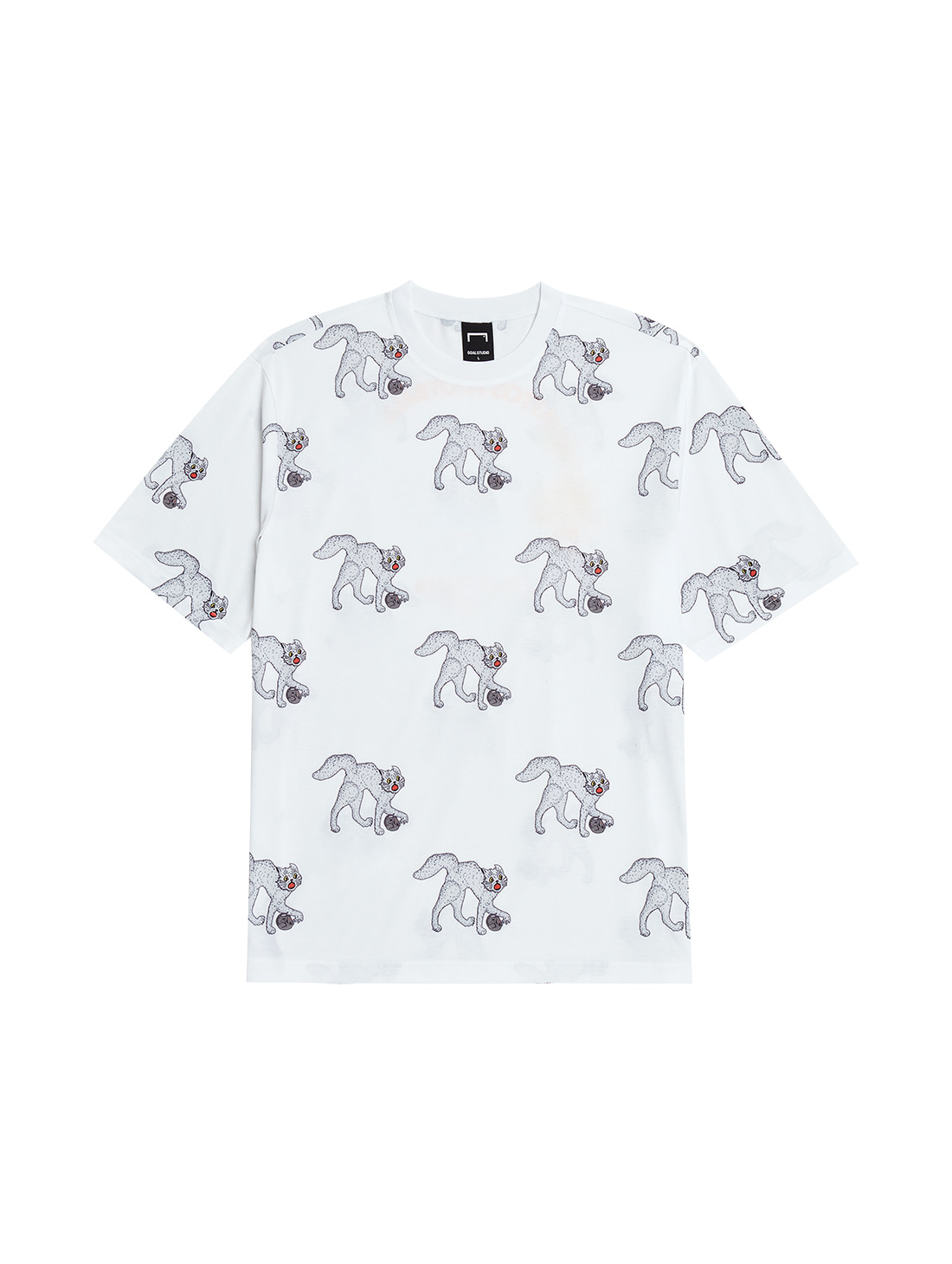MC ALL OVER PATTERN TEE - WHITE