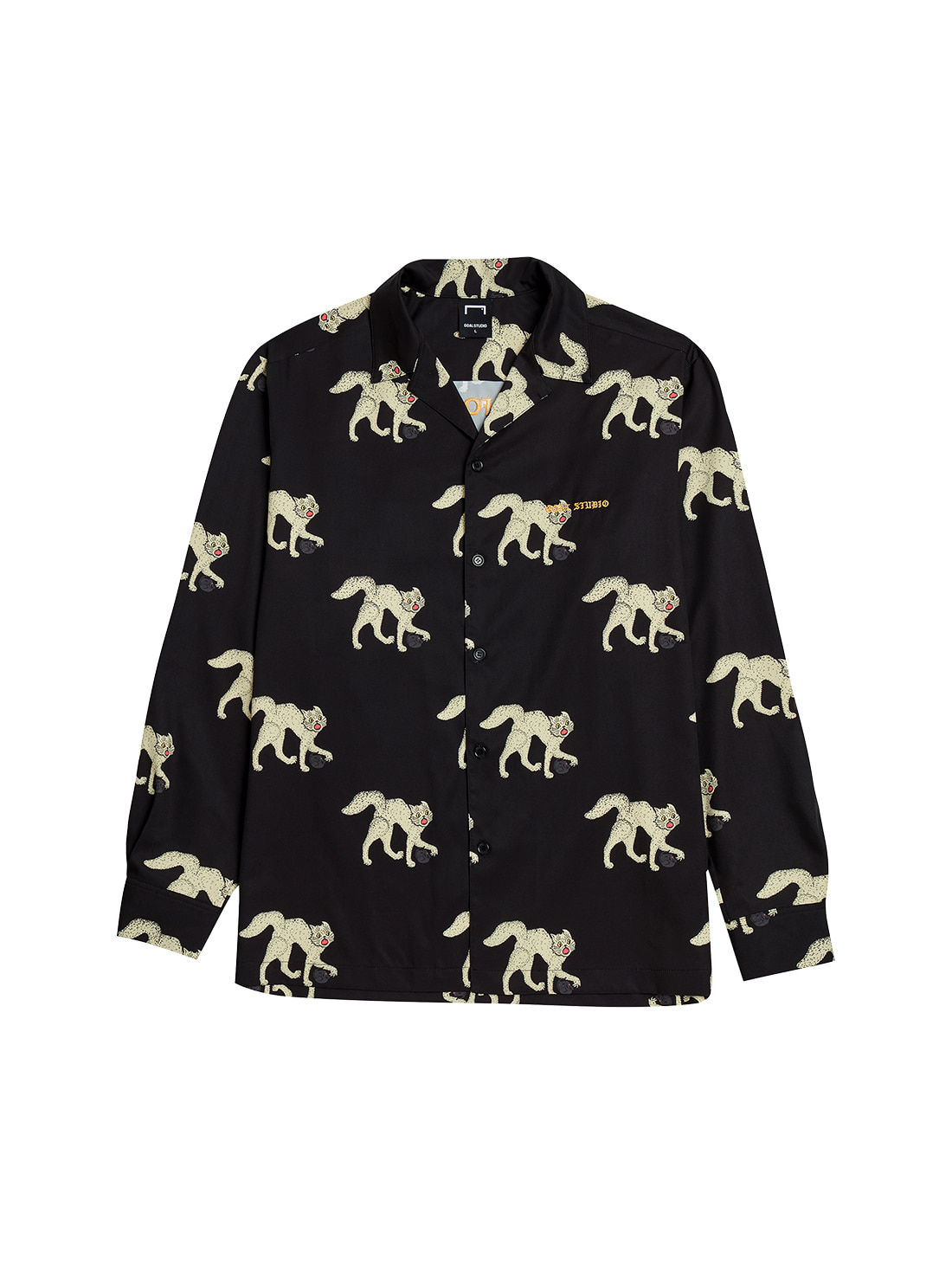 MC ALL OVER PATTERN SHIRTS - BLACK