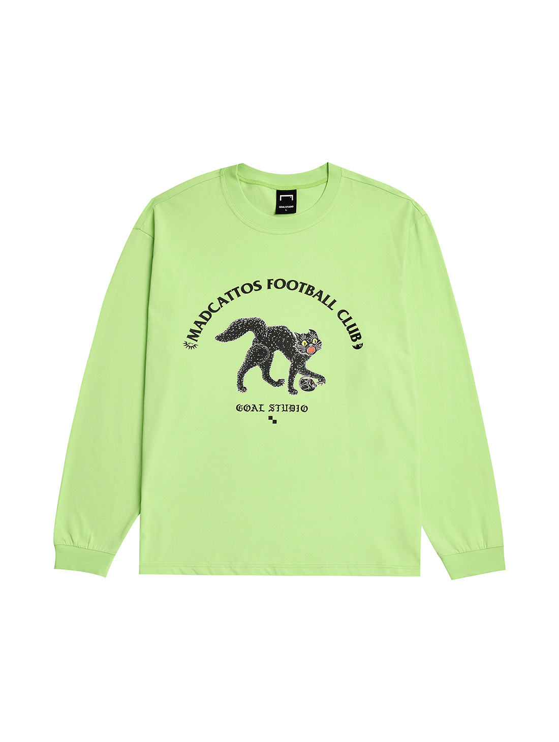 MC GRAPHIC LONG SLEEVE TEE - LIME