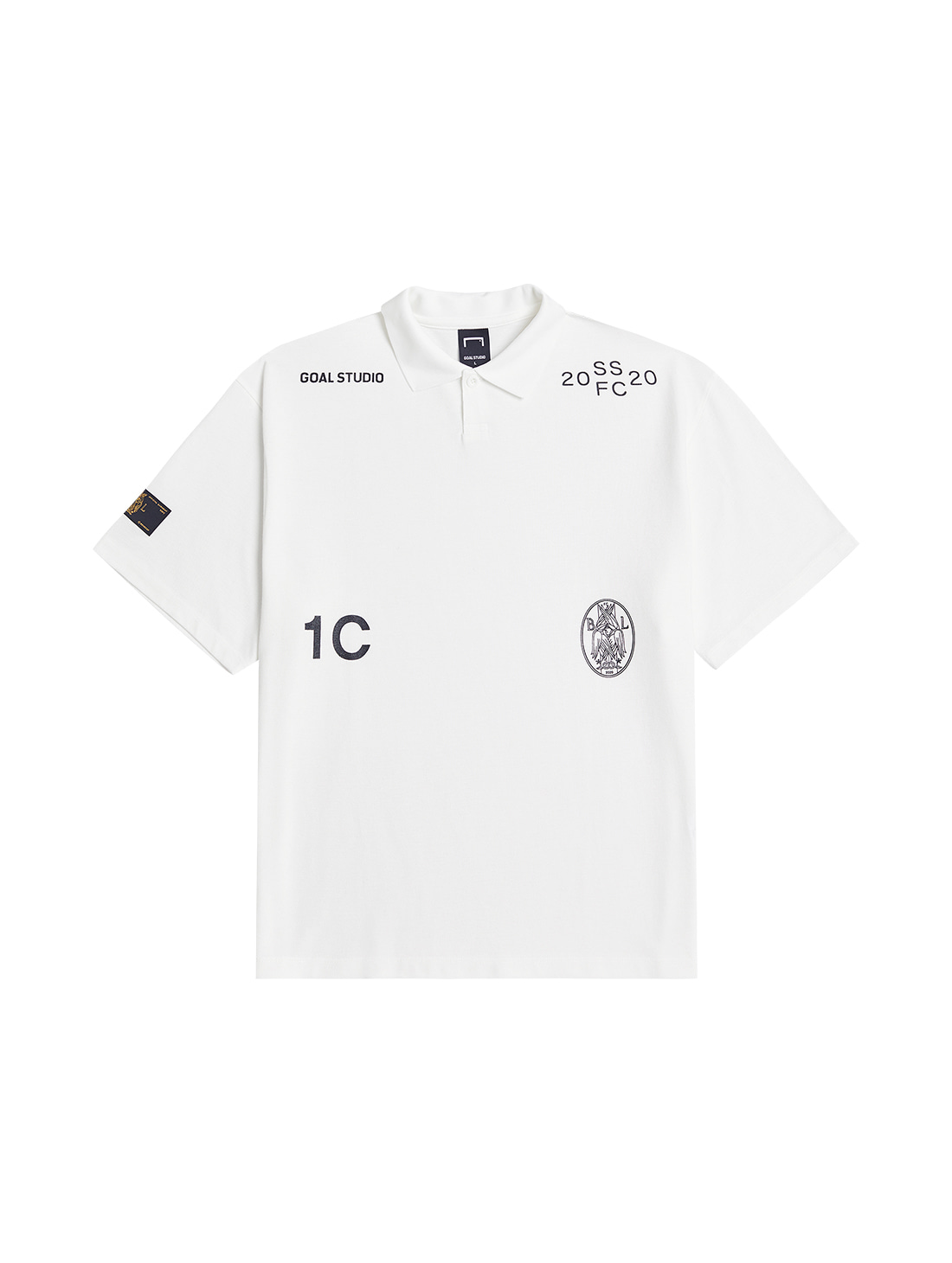 SSFC PIQUE COLLAR SHIRT - WHITE