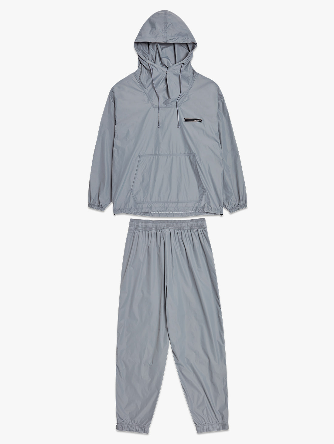 [10% OFF] OVERSIZED ANORAK JACKET&VENTILATED WARMUP PANTS SET