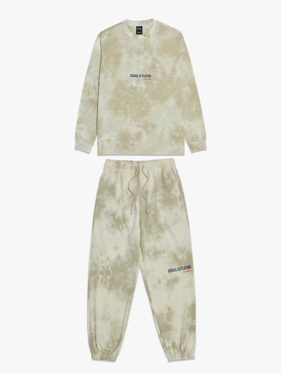 [10% OFF] TIE DYE LONG SLEEVE TEE & TIE DYE JOGGER PANTS SET