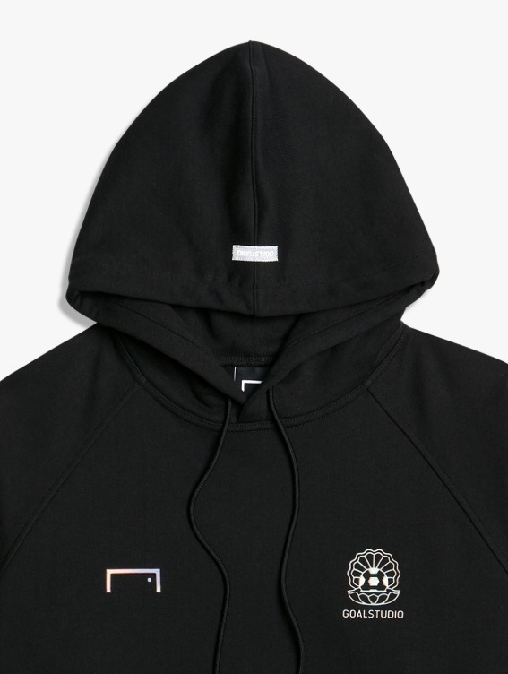 PEARL BALL PATCH HOODIE - BLACK