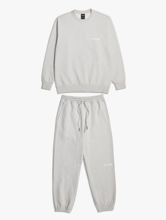 [10% OFF] SIGNATURE LOGO SWEATSHIRT & PANTS SET - MELANGE GREY