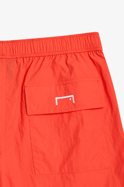 LOGO PRINT SHORTS - CORAL RED