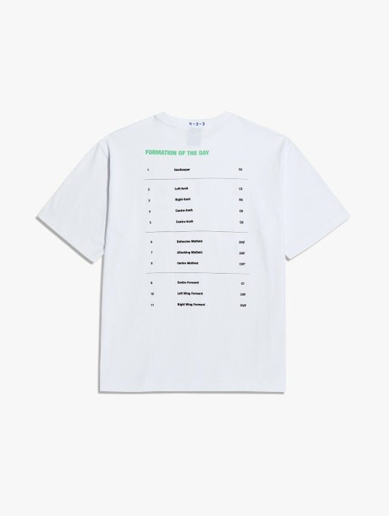 FREE KICK CAPSULE FOOTBALL POSITION TEE - WHITE