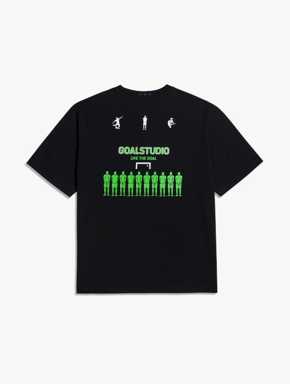 FREE KICK CAPSULE DEFENSIVE WALL TEE - BLACK