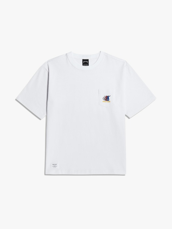 FREE KICK CAPSULE POCKET TEE - WHITE