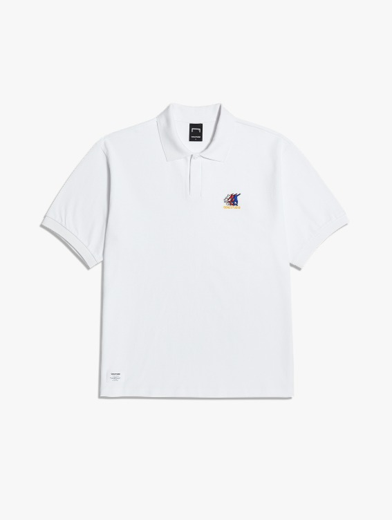 FREE KICK CAPSULE PIQUE POLO SHIRT - WHITE