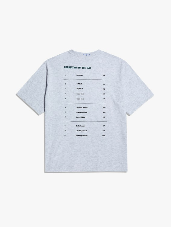 FREE KICK CAPSULE FOOTBALL POSITION TEE - MELANGE GREY